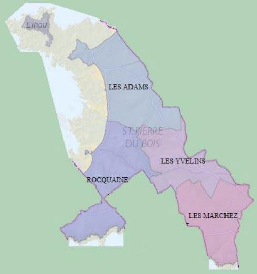 Cantons of St Pierre du Bois